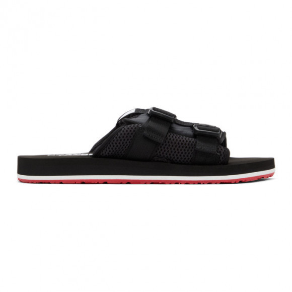 The North Face Black and Red EQBC Slides - NF0A46B3