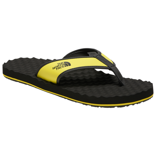 The North Face Base Camp Flip Flop II - Men's Outdoor Sandals - Black / Sulphur Spring / Green - NF0A47AA-C5W