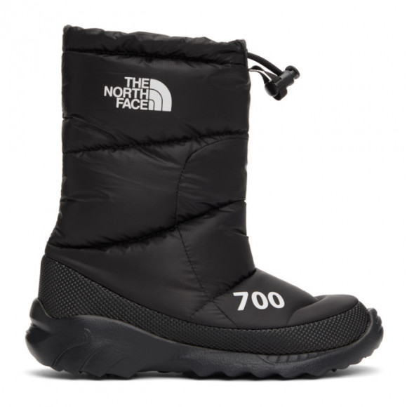 The North Face Black Down Nuptse 700 Boots - NF0A4OAX
