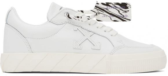 Off-White White Vulcanized Calfskin Sneakers - OMIA085F21LEA0030101