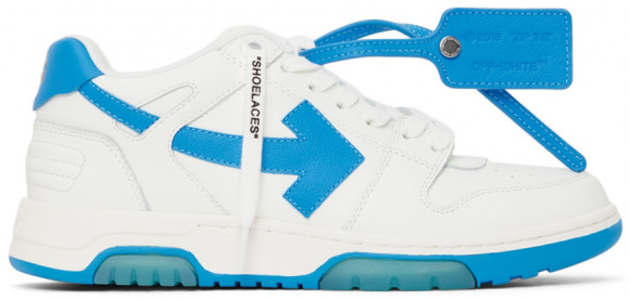 Off-White White & Blue 'Out Of Office' Sneakers - OMIA189F21LEA0020145