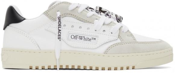 Off-White White & Black Vulcanized 5.0 Sneakers - OMIA227F21FAB0010110