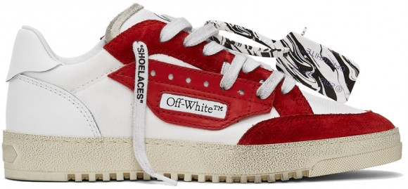 Off-White White & Red Vulcanized 5.0 Sneakers - OMIA227F21FAB0010129