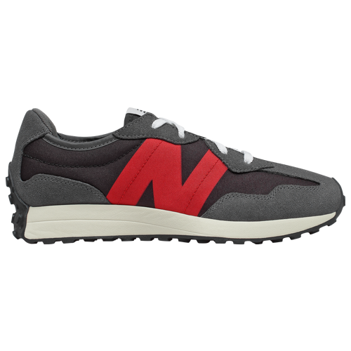 New Balance 327 - Boys' Preschool Running Shoes - Magnet / Team Red - PS327FF-M