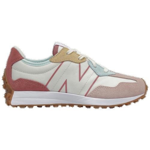 New Balance 327 - Girls' Preschool Running Shoes - Oyster / Pink ...