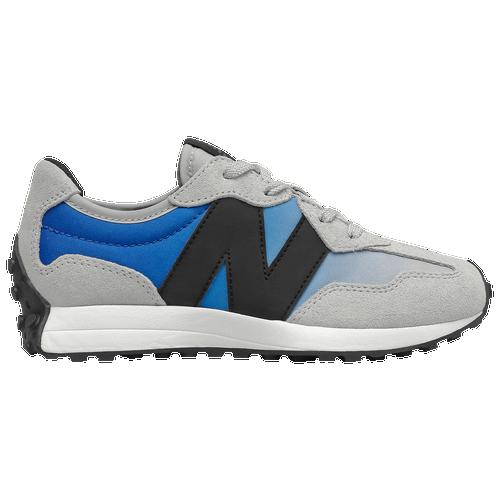New Balance 327 - Boys' Preschool Running Shoes - Light Aluminum / Cobalt - PS327SD-M