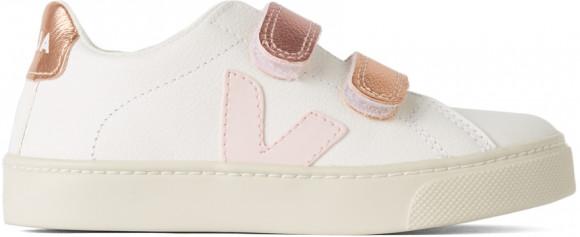 Veja Enfant   Baskets Esplar blanches et roses - RSV052277J