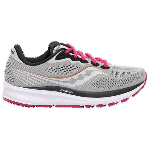 Saucony Ride 14 - Women's Running Shoes - Fog / Cherry - S10650-55
