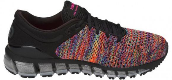Womens Asics Gel Quantum 360 Knit 2 Black/Rainbow Multi/Black WMNS Marathon Running Shoes/Sneakers T890N-9000 - T890N-9000