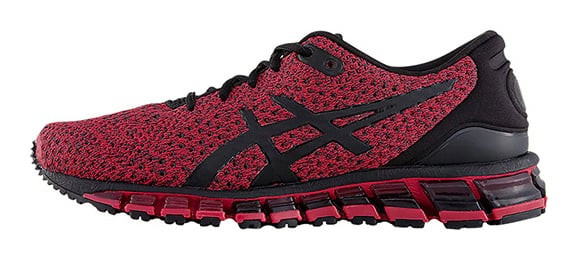 ASICS Gel Quantum 360 Knit 2 'Samba Red' Black/Samba Marathon Running Shoes/Sneakers T8G3N-001 - T8G3N-001