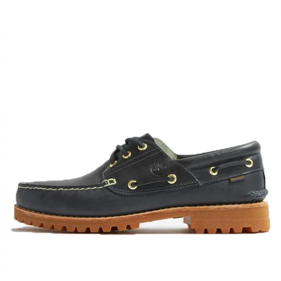 Timberland x Aime Leon Dore 3-Eye Lug Shoe Navy Leather (2021) - TB0A2Q4E019