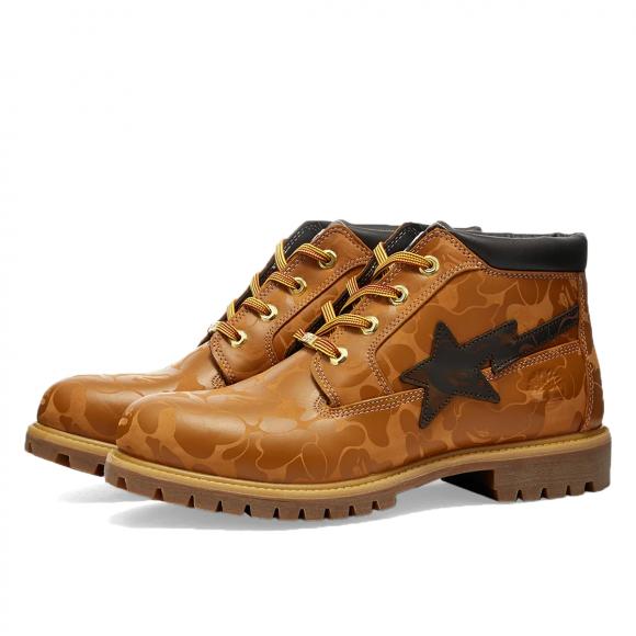 Timberland x BAPE Premium Chukka Boot Wheat Chocolate (2021) - TB0A2QBX231-CA2QBX