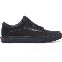 Boys Vans Vans Old Skool - Boys' Grade School Shoe Black/Black Size 03.5 - VD3HBKA
