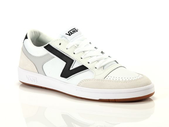 Vans Mens Vans Lowland - Mens Shoes White/Black Size 10.0 - VN-0A4TZYVTW1