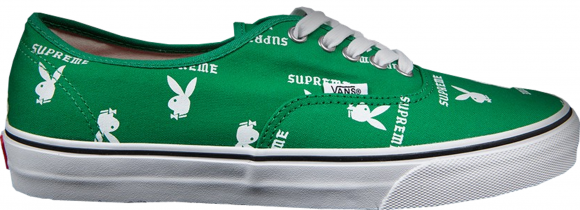 Vans Authentic Supreme x Playboy Green - VN-OQODD7N