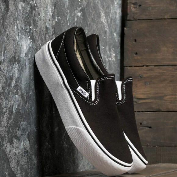 VANS Chaussures Classic Slip-on Platform (black) Femme Noir ...