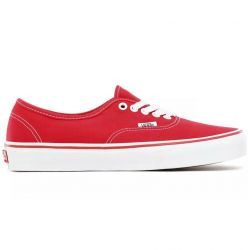 Vans Authentic Lace Up Sneakers Casual Shoes Red- Mens- Size 5.5 M - VN000EE3RED