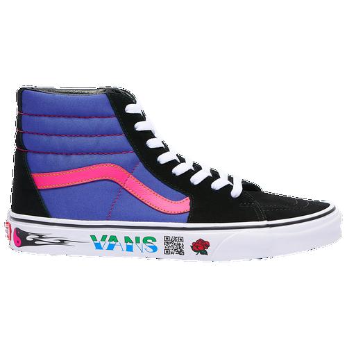 Vans Sk8 Hi - Men's Skate/BMX Shoes - Black / Spectrum Blue ...