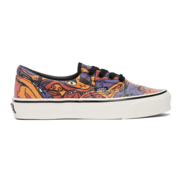 Vans Purple and Orange Night Eyes OG Era LX Sneakers - VN0A3CXN4M4