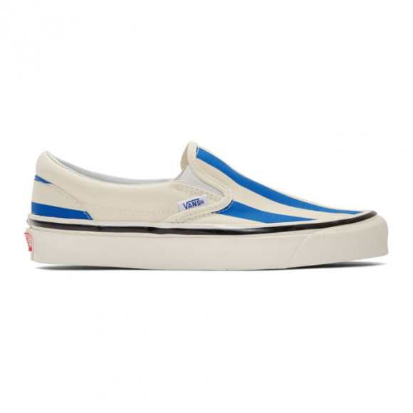 Vans Blue and White Striped Classic 98