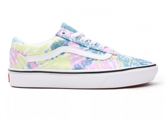 Vans Comfycush Old Skool - Women's Skate/BMX Shoes - Pink / Blue / White - VN0A3WMA49L