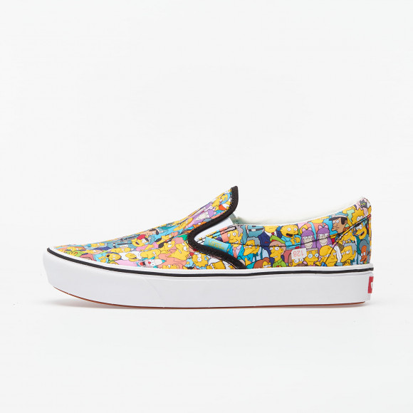 VANS The Simpsons X Vans Comfycush Slip-on ((the Simpsons) Springfield) Women Multicolour, Size 10 - VN0A3WMD1TJ1