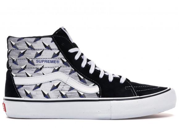 Vans Supreme x Sk8-Hi Pro 'Diamond Plate Black Grey' Black Canvas Shoes/Sneakers VN0A45JDTEB - VN0A45JDTEB