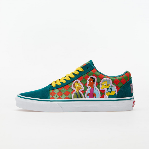 VANS The Simpsons X Vans Moe's Old Skool Shoes ((the Simpsons) Moe's) Women Green, Size 8.5 - VN0A4BV521L1