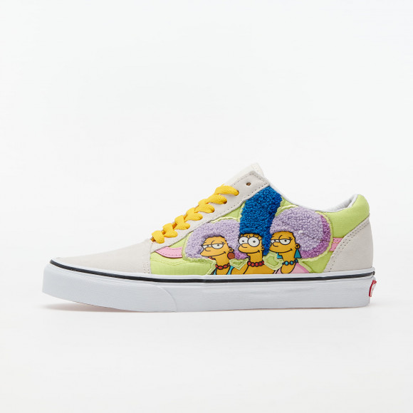 VANS The Simpsons X Vans The Bouviers Old Skool Shoes ((the Simpsons) The Bouviers) Women White, Size 6.5 - VN0A4BV521M1