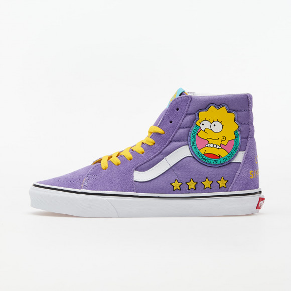 VANS The Simpsons X Vans Liza 4 Prez Sk8-hi Shoes ((the Simpsons) Lisa 4 Prez) Women Purple, Size 6.5 - VN0A4BV617G1