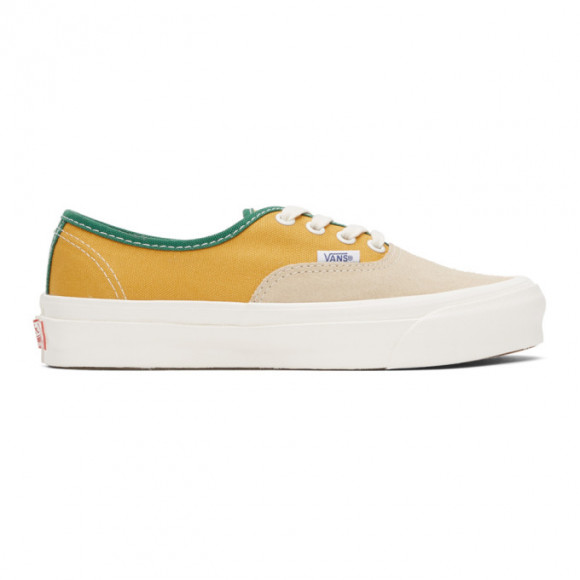 Vans Yellow and Beige OG Authentic LX Sneakers - VN0A4BV91XX