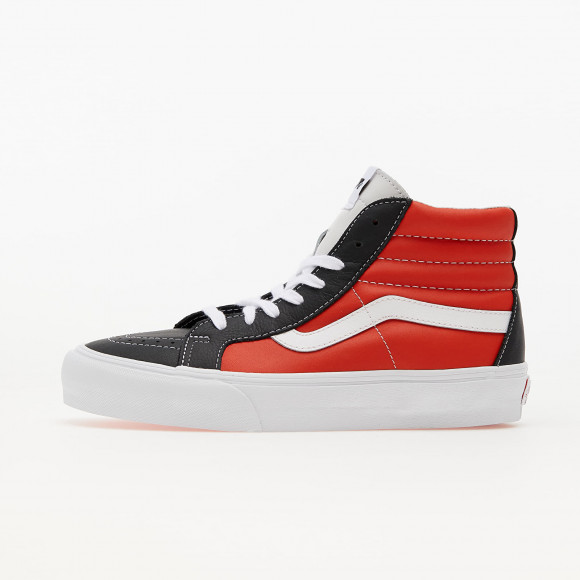 Vans Sk8-Hi Reissue Vlt (Leather) Black/ Orange/ White - VN0A4BVHA0G1