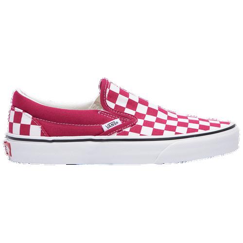 Vans Classic Slip On - Women's Loafers - Cerise / True White