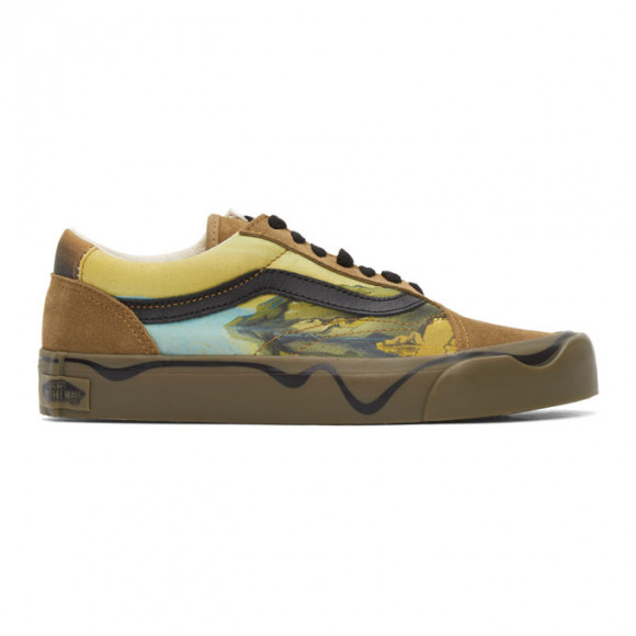 Vans Moma Dalí Old Skool Shoes ((moma) Salvador Dali Yellow) Women Yellow, Size 11 - VN0A4UUI21Z