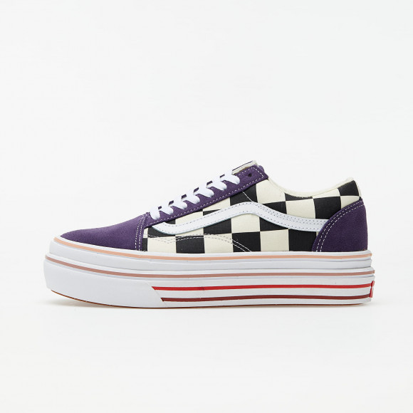Vans Super ComfyCush Old Skool (Suede) Purple Checkerboard - VN0A4UUN26C1