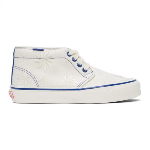 Vans Off-White and Blue OG Chukka LX Mid-Top Sneakers - VN0A5FBV4K4