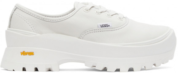 Vans White Vault Leather Authentic LX Sneakers - VN0A5HZUW00