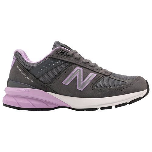 New Balance 990v5 - Women's Running Shoes - Lead / Dark Violet Glo - W990DV5-B