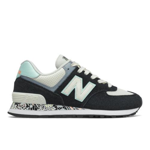 New Balance 574 Femme Noire Et Bleue 36 Rétro-Running - WL574CA2