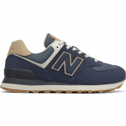 New Balance Womens New Balance 574 Classic - Womens Running Shoes Navy/White Size 09.0 - WL574EN