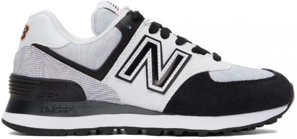 New Balance Black & White 574 Sneakers - WL574PB2