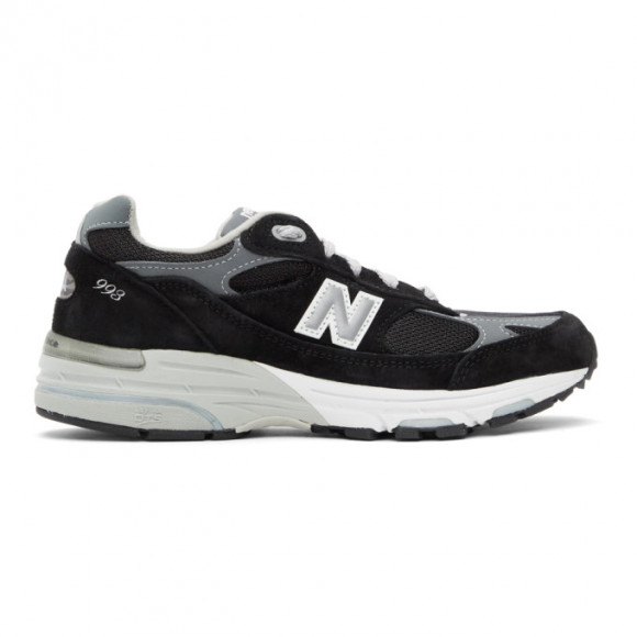 New Balance Black and Grey Made In US 993 Sneakers - WR993