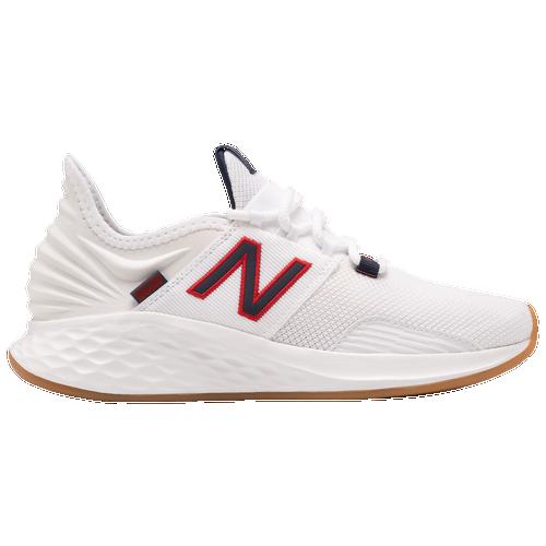 New Balance Fresh Foam Roav - Women's Running Shoes - White / Navy / Red - WROAVSAM-B
