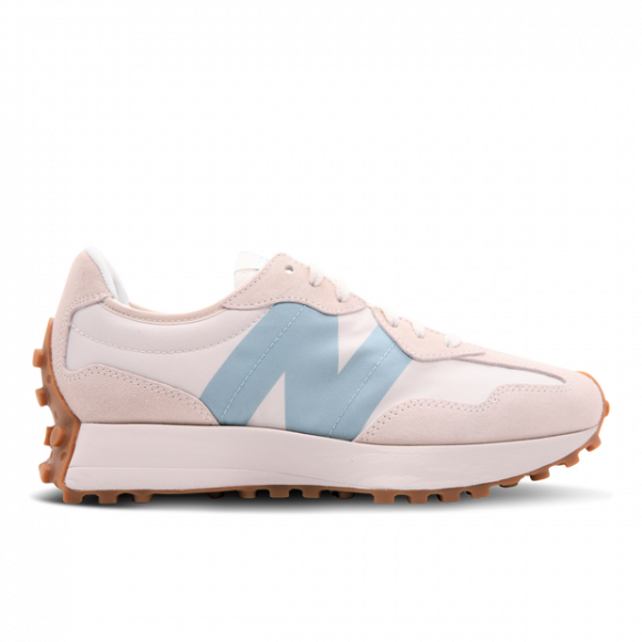 New Balance White & Blue 327 V1 Low Sneakers - WS327HG1