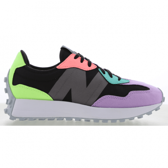 New Balance 327 - Women's Running Shoes - Black / Dark Violet Glo - WS327PB
