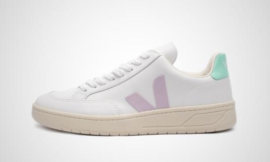V-12 Leather (weiß / pink / türkis) Sneaker - XD022154