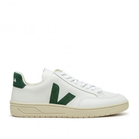 Veja V-12 Leather (Weiß / Grün) - XD022336B