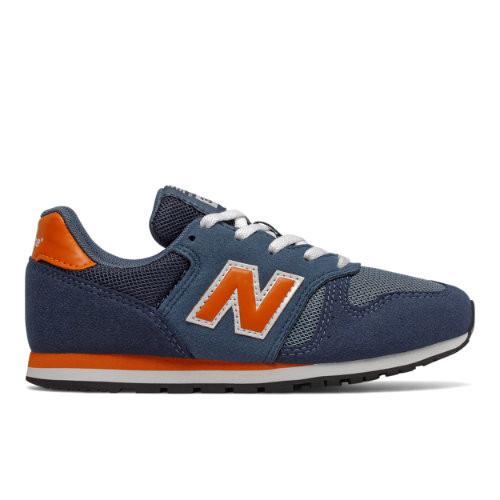 Mens New Balance 373 - Stone Blue/Vintage Orange, Stone Blue ...