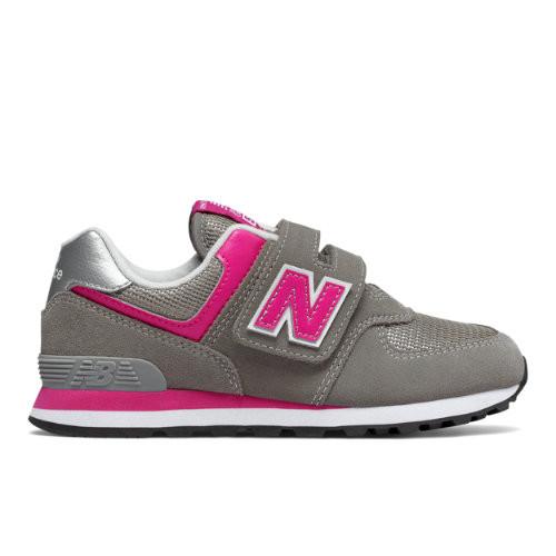 Fille New Balance 574 Core - Grey/Pink, Grey/Pink - YV574GP
