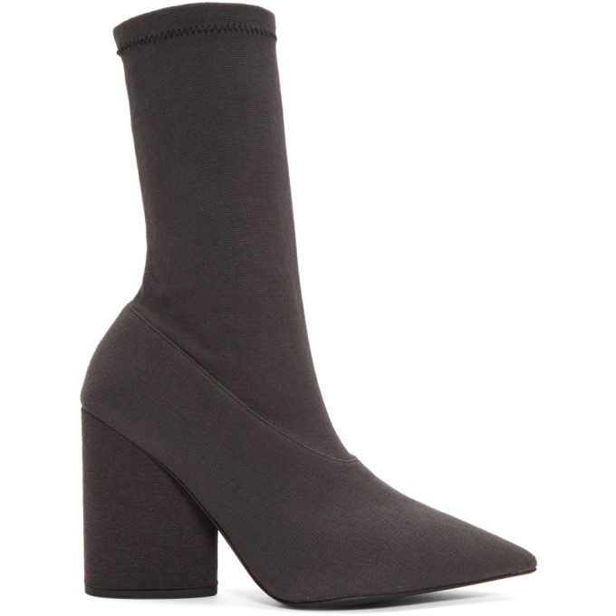 YEEZY Black Stretch Ankle Boots - YZ6067.112